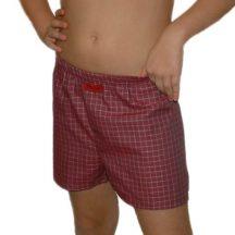 Boxeralsó gyermek méret bordó kockás