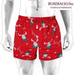 Akciós karácsonyi boxeralsó  - Hagyományos bőszárú fazon