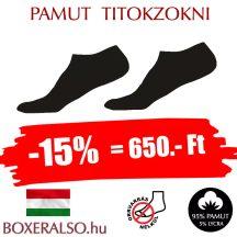 Pamut rövidszárú zokni- orrvarrat nélkül -