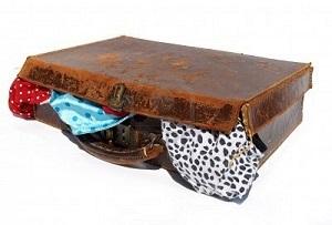 fehérneműs bőrönd
